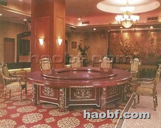 北京酒店家具提供生产豪华电动餐桌厂家