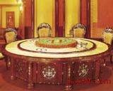 实木雕刻酒店电动餐桌