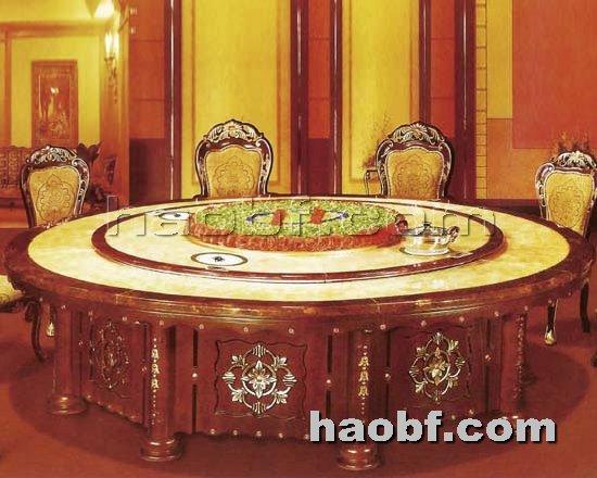 北京酒店家具提供生产实木雕刻酒店电动餐桌厂家