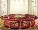 实木雕花酒店豪华电动餐桌